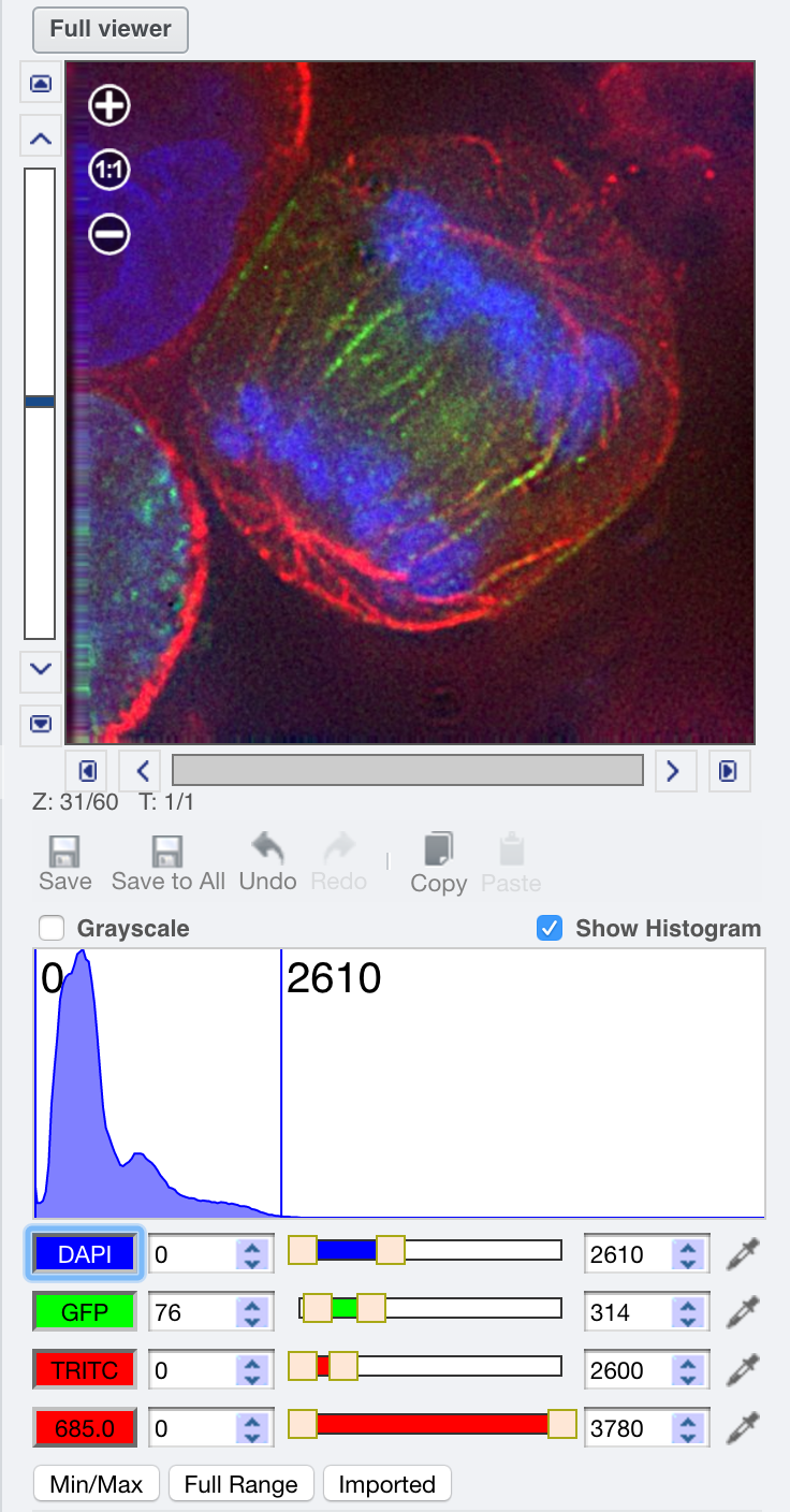 Histograms screenshot